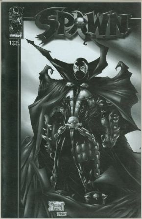 Spawn #1 Black & White Retailer Sketch Variant Image comic book